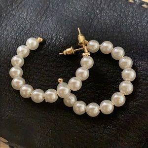 Faux peral earrings